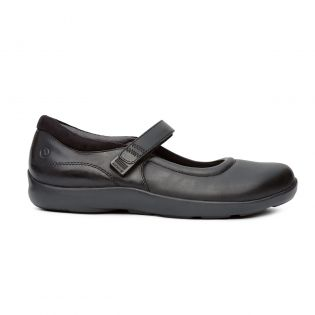No 33 Women Casual Mary Jane by Anodyne-Black Stretch